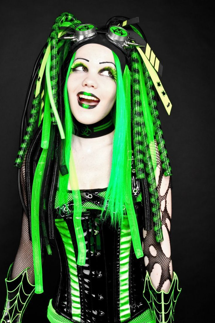 Cyber Goth Hairstyles